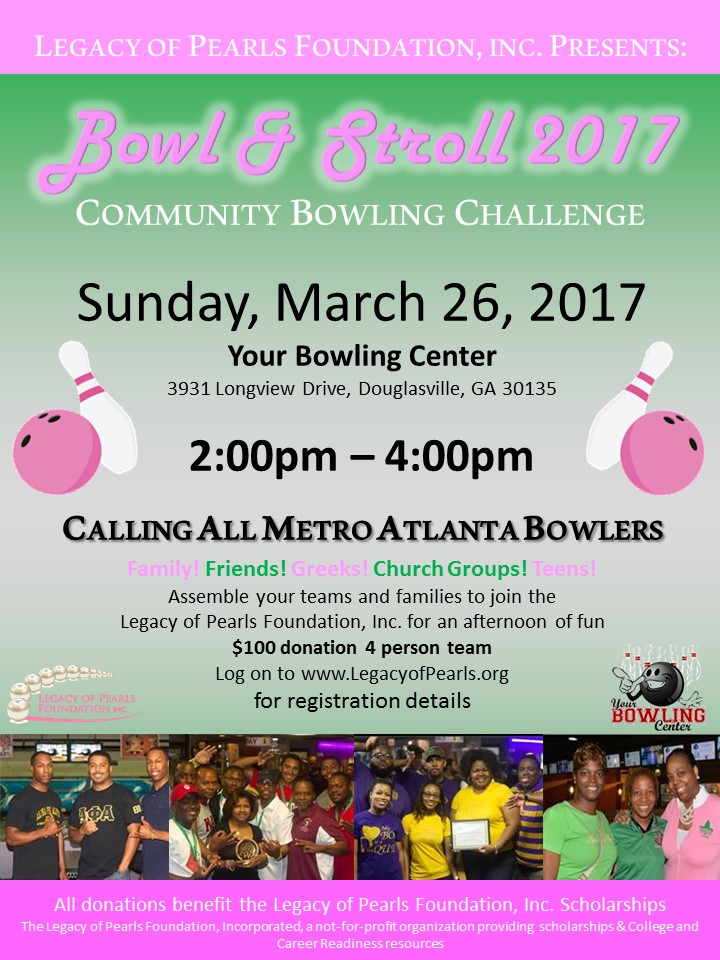 Bowl and Stroll 2017 flyer